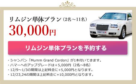 リムジン単体プラン(2名〜11名)30,000(税抜)